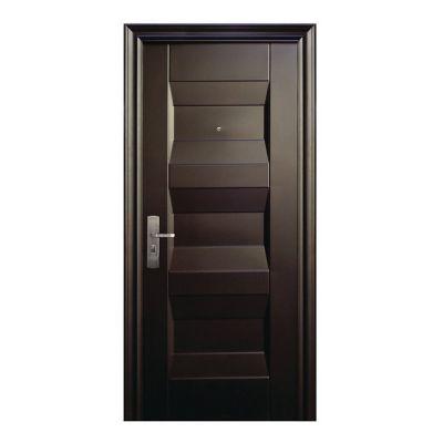Puerta seguridad Lennox chocolate derecha 95 x 213 cm