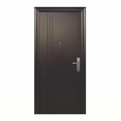 Puerta seguridad 3L Plus chocolate izquierda 95 x 213 cm