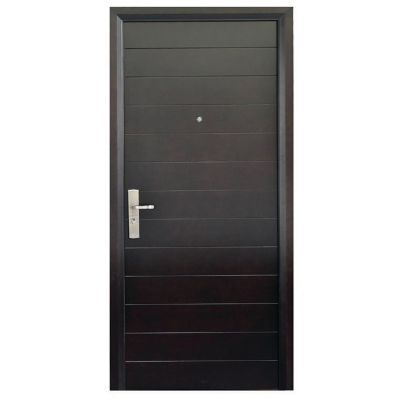 Puerta seguridad Contempo nogal derecha 110 x 240 cm