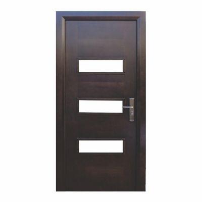 Puerta seguridad Dakota nogal izquierda 96 x 213 cm