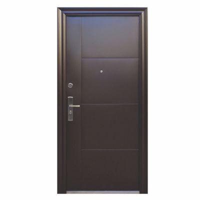 Puerta seguridad Aspen súper chocolate izquierda 95 x 213 cm