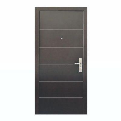 Puerta seguridad Contour nogal izquierda 96 x 213 cm
