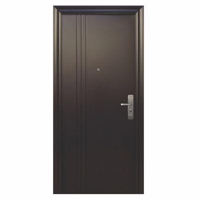 Puerta seguridad 3L chocolate izquierda 100 x 230 cm