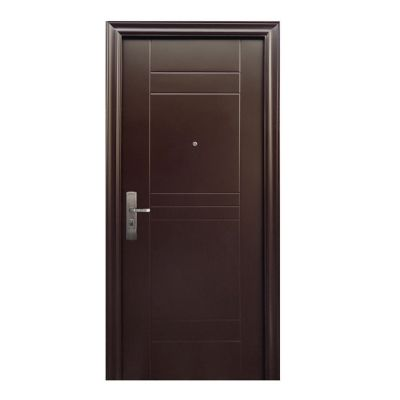 Puerta seguridad Ellegance chocolate derecha 95 x 213 cm