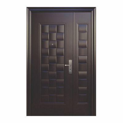 Puerta seguridad Luxury chocolate c/fijo izquierda 130 x 213 cm