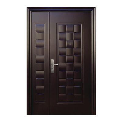 Puerta seguridad Luxury chocolate c/fijo derecha 130 x 213 cm