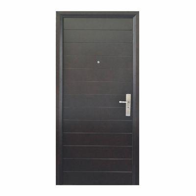 Puerta seguridad Contempo nogal izquierda 86 x 213 cm