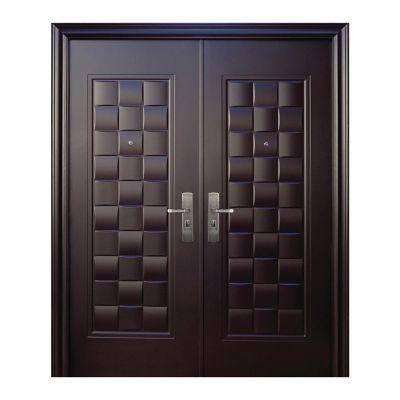 Puerta seguridad Luxury chocolate doble derecha 170 x 213 cm