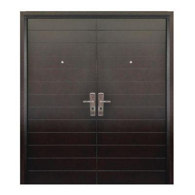 Puerta seguridad Contempo nogal doble izquierda 170 x 213 cm