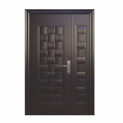 Puerta seguridad Luxury chocolate c/fijo izquierda 130 x 200 cm