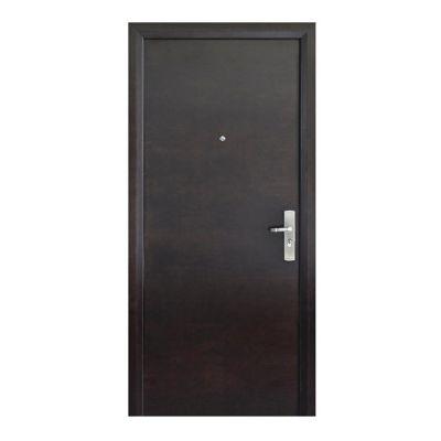 Puerta seguridad Simple nogal izquierda 96 x 213 cm