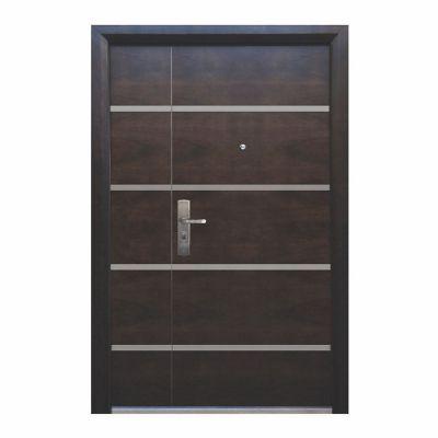 Puerta seguridad Firenze nogal con fijo derecha 130 x 213 cm