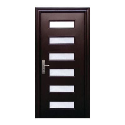 Puerta seguridad Vista chocolate derecha 95 x 213 cm