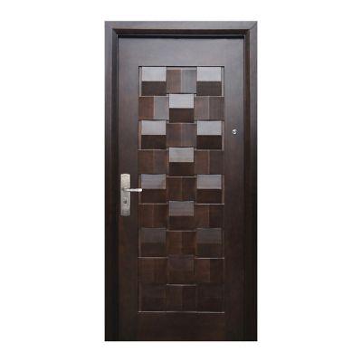 Puerta seguridad Master nogal derecha 96 x 213 cm
