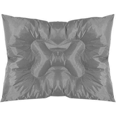 Cama rectangular diseño de hueso 55 x 75 cm gris turquesa