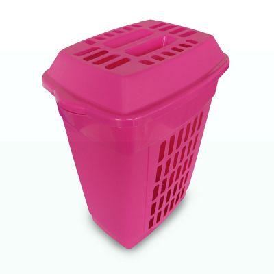 Cesto Italia calado rosa 48 L