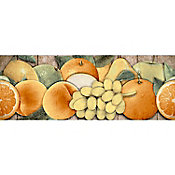 Cenefa Almena cocina amarillo/naranja 9.5X25 cm