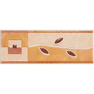 Cenefa Laghi marrón/salmón 7.5X20 cm