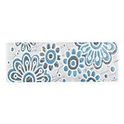 Cenefa Dovela gris/azul 7.5X20 cm