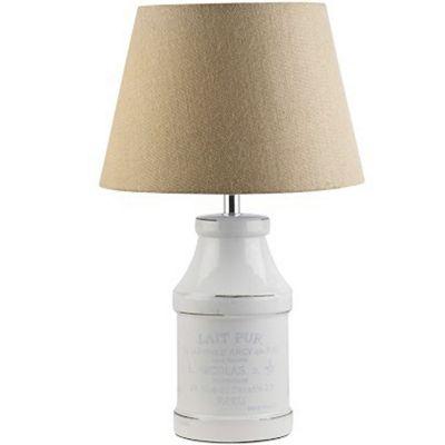 Lámpara mesa 60W Bote Lechero cerámica 1luz E26 51cm