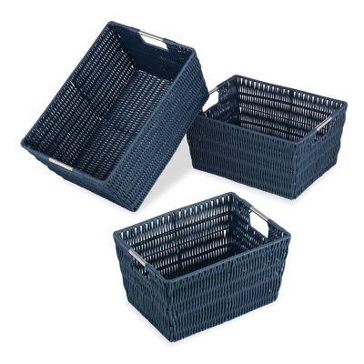 Set de 3 cestos azules