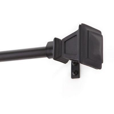 """Cortinero Seville 5/8"""" 122x218 cm negro"""
