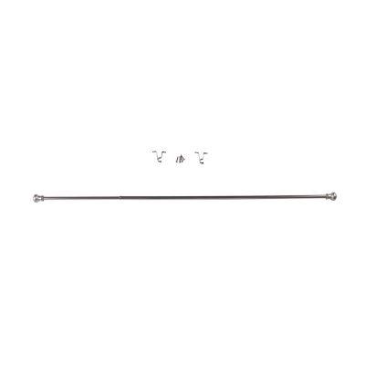 Cortinero Crods 71x122 cm plata satinada