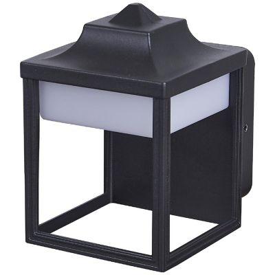 Farol Oxalis led negro 100-240V cálida