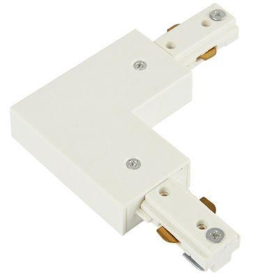Conector escuadra p/riel blanco