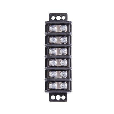 Tablilla terminal de 6 circuitos 30A 600V p/cable de 22 a 10 AWG