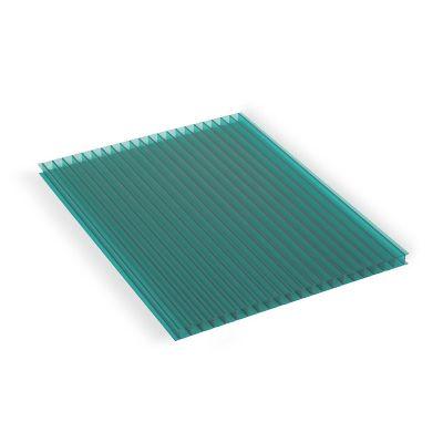 Lámina de policarbonato Alveolar Sunlite verde 6 mm 1.22 x 3.05 cm