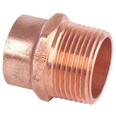 Conector rosca exterior 1/2 cobre