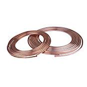 Tubo flexible 1/2 15.24m cobre para gas