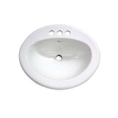 Lavabo Ovalín sobrepuesto blanco