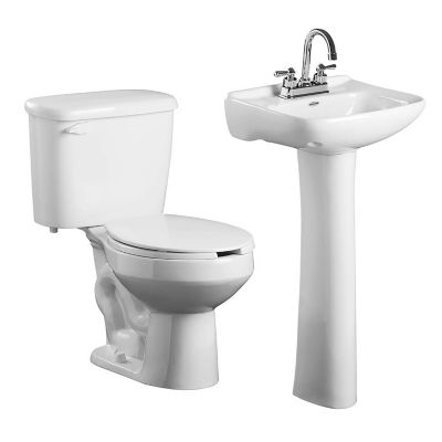 Sanitario con lavabo- pedestal Cosmos II blanco