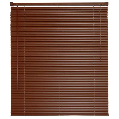 Persiana horizontal de PVC chocolate 150x160 cm