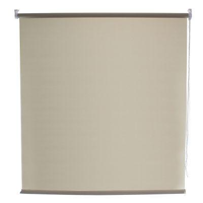 Persiana enrollable translúcida beige 100x160 cm