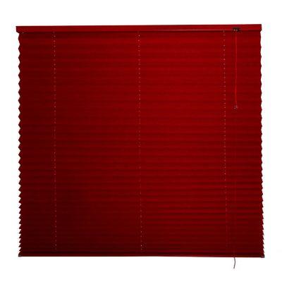 Persiana plisada tela vino 120x140 cm
