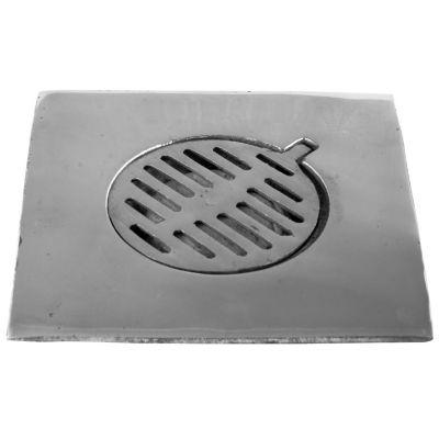 Coladera cuadrada 20 x20 cm aluminio