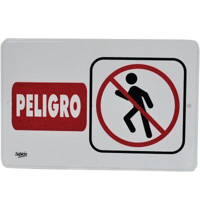 "Señal ""peligro "" placa rígida autoadherible 22.8 x 15. 2 cm"