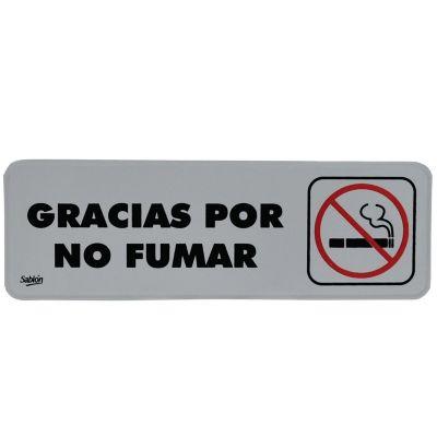 """Señal """"gracias por no fumar"""" placa rígida autoadherible 23 x 7.5 cm"""