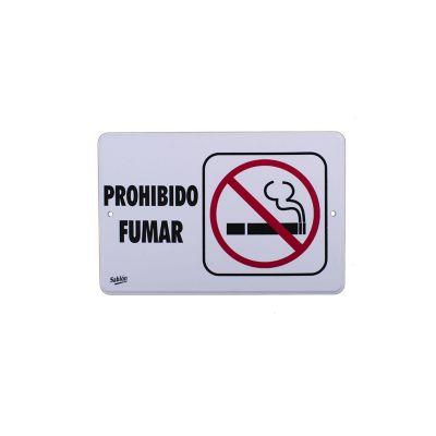 "Señal  ""prohibido fumar"" placa rígida autoadherible 22.8 x 15.2 cm"
