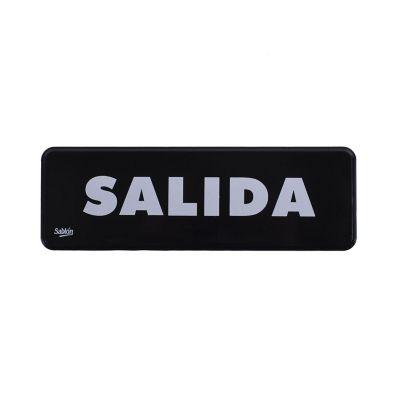 """Señal """"salida"""" placa rígida autoadherible 23 x 7.5 cm"""