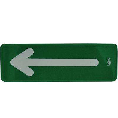 "Señal "" flecha derecha o izquierda"" placa rígida autoadherible 23 x 7.5 cm"