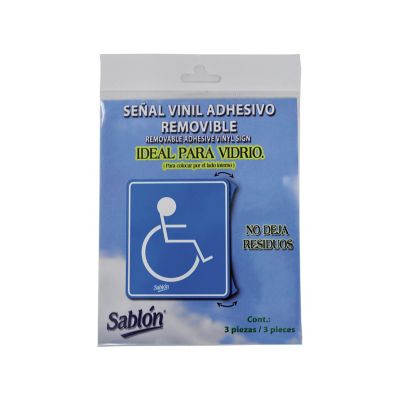 "Señal ""capacidades diferentes"" placa rígida autoadherible 13 x 15 cm"