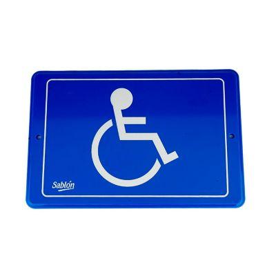 "Señal ""capacidades diferentes"" placa rígida autoadherible 22.8 x 15. 2 cm"