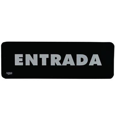 "Señal ""entrada"" placa rígida autoadherible 23 x 7. 5 cm"