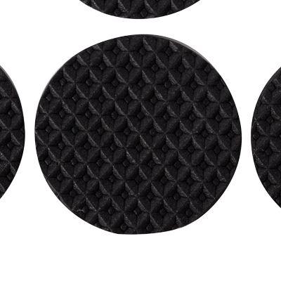 Protector caucho antideslizante 30 mm x 6 unid negro