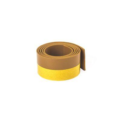 Perfil flexible p/puertas 1 m x 38 mm cafe