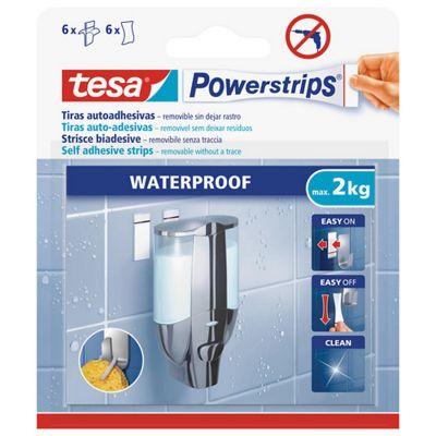 Tiras adhesivas removibles largas resistentes al agua 6 pz